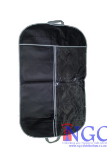 garment cover, suit cover, dress cover, Non Woven Black Garment Cover