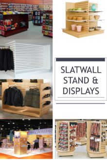 Freestanding Slatwall Display Stands